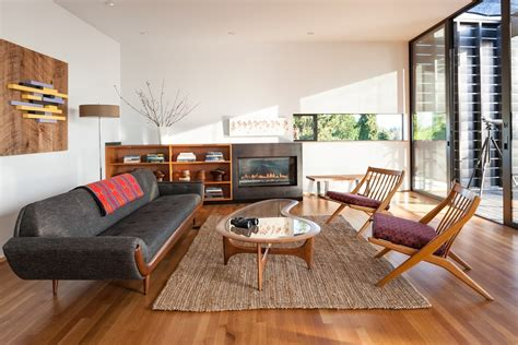 Mid century modern farmhouse living room contemporary with