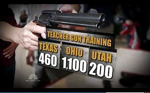 Image result for Well-trained teachers would be as proficient with firearms as police