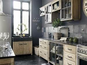 cuisine campagne chic 9 magnifiques idees de deco With maison du monde meuble cuisine