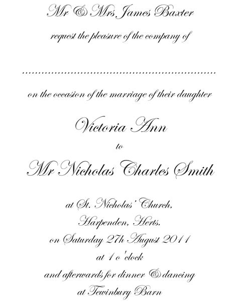 Formal Invitation Wording Template  Best Template Collection