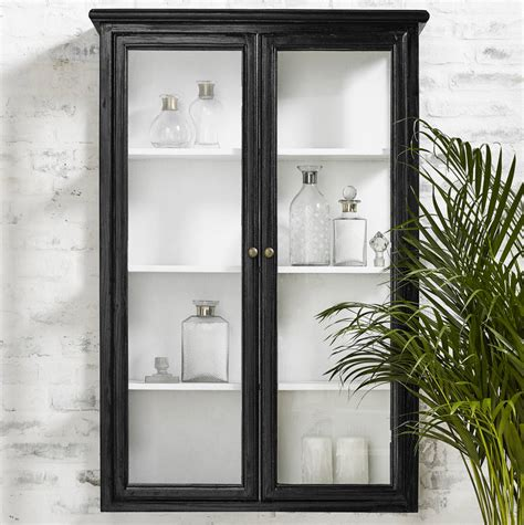 Glass Cabinet by Distressed Wood And Glass Wall Cabinet By I Retro