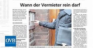Wann Kann Vermieter Kündigen : wann der vermieter rein darf ovb heimatzeitungen ~ A.2002-acura-tl-radio.info Haus und Dekorationen