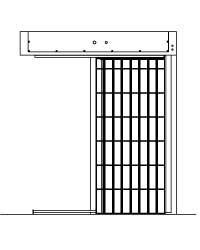 CSL0127 ASTM Sliding Cell Gate by Cell Security Ltd