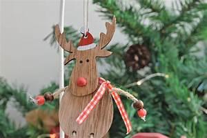 Wooden, Reindeer, Hanging, Decoration
