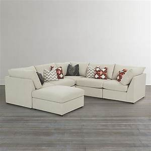 Beckham custom upholstered u shaped sectional bassett for Small sectional sofa bassett