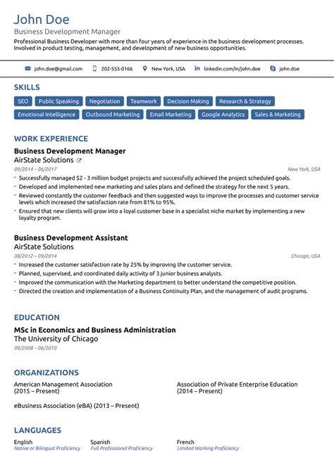 Page Layout For Resume by 8 Best Resume Templates Of 2018 Customize