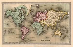 Old World Maps HD Wallpaper 8