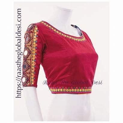 Blouse Saree Silk Fancy Blouses Neck Skirt