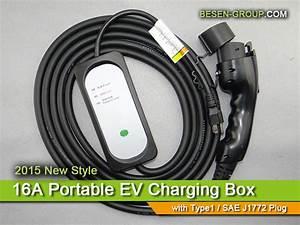 16a Portable Niveau 2 Chargeur De Voiture  U00e9lectrique Pour Recharge De V U00e9hicules  U00e9lectriques