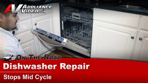 kitchenaid kudcfxss dishwasher repair stops mid cycle