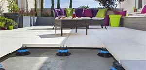 Dalle Composite 50x50 : terrasse piscine dalle sur plot nos conseils ~ Premium-room.com Idées de Décoration