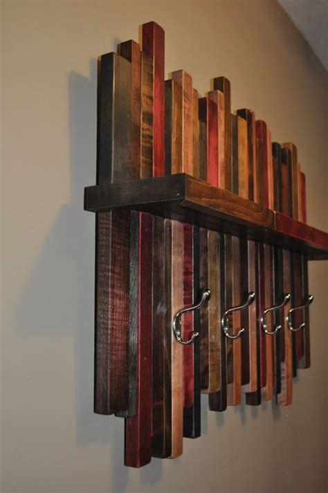reclaimed wood coat rack rustic wood coat