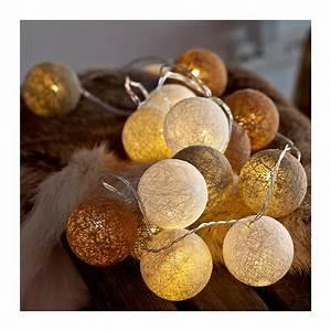 Guirlande Lumineuse Boule Ikea : guirlande boule coton lumineuse noel decoration ~ Teatrodelosmanantiales.com Idées de Décoration