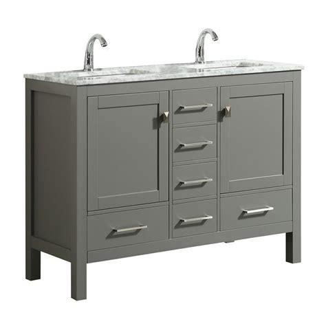 "Want to shop bathroom vanities nearby? Eviva London 48 x 18"" Transitional Double Sink Bathroom ..."