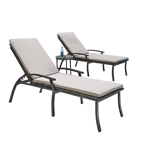 outdoor chaise lounge chairs home styles laguna black woven vinyl and metal patio
