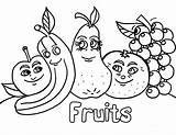 Coloring Fruit Pages Salad Printable Sheets Kindergarten sketch template