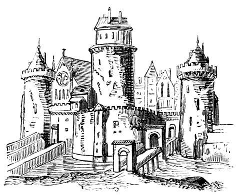anglo saxon feudal castle clipart etc