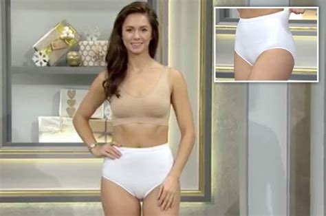 qvc underwear ad  viral  model suffers awkward