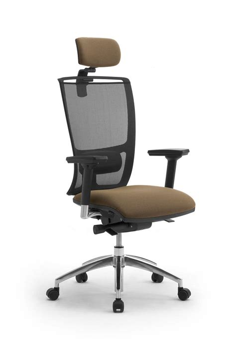 office chair with headrest mesh backrest idfdesign