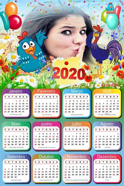 Montagem de Fotos Calendário Foto Calendário com