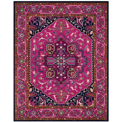 pink area rug 8x10 safavieh bellagio pink navy 8 ft x 10 ft area rug