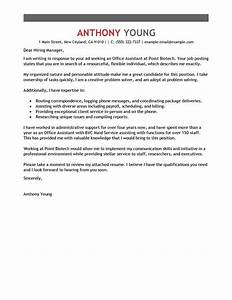 leading professional office assistant cover letter With cover letters that get the job