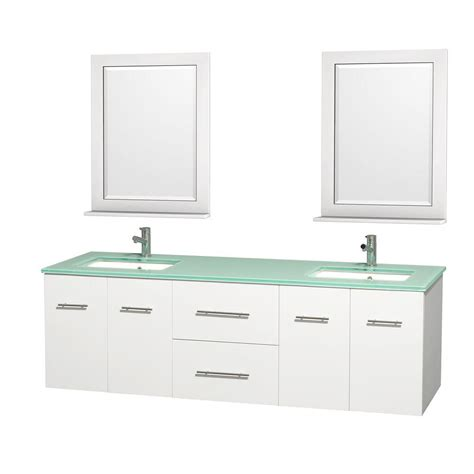 wyndham collection centra   double vanity  white