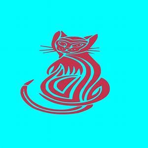 tribal cat outdoor vinyl handmade sticker decal house pet With outdoor vinyl letter stickers