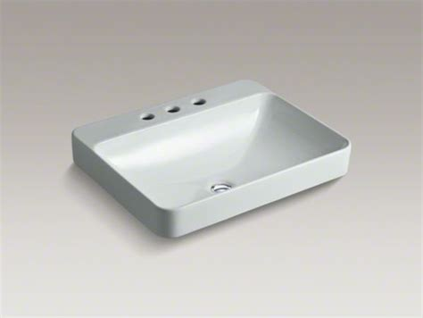 kohler vox r rectangle vessel above counter bathroom sink