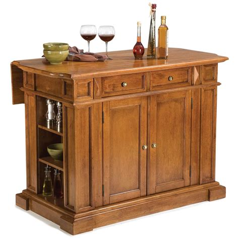 kitchen island home styles cottage oak kitchen island with breakfast bar cottage oak 172166 kitchen