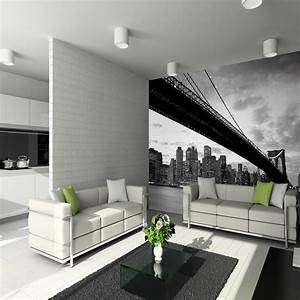1 Wall Giant Wallpaper Mural New York NYC Brooklyn Bridge3 ...