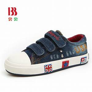 Children Jeans Canvas Shoes 2016 New Arrival Spring Kids Brand Shoes Breathable Boys Girls ...