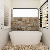 tile bathroom wall 30 Exquisite and Inspired Bathrooms with Stone Walls