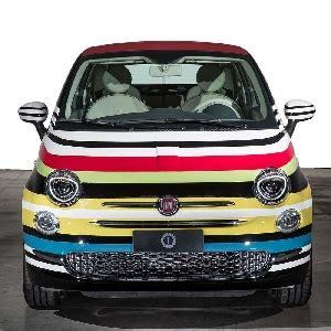 Modifikasi Fiat 500 by Modifikasi Fiat 500 Warna Warni Dilelang Dengan Harga