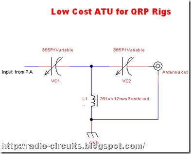 Radio Circuits Blog Low Cost Atu For Qrp Rigs