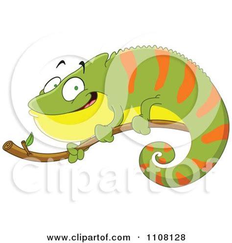 clipart   black  white chameleon lizard  royalty
