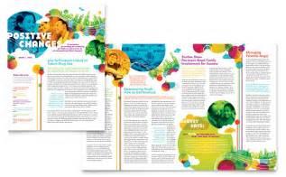 newsletter design youth program newsletter template design