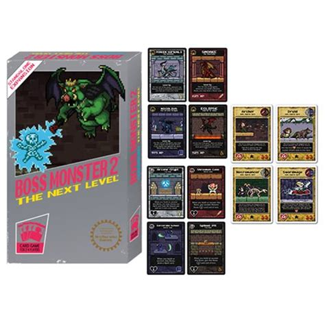 Inspired by classic video games, boss monster challenges you to become a villain, build a dungeon, lure in adventurers… and destroy them! Boss Monster 2 The Next Level Card Game - Entertainment Earth