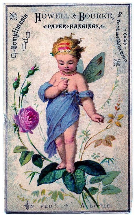 Vintage Image Adorable Fairy With Rose The Graphics Fairy