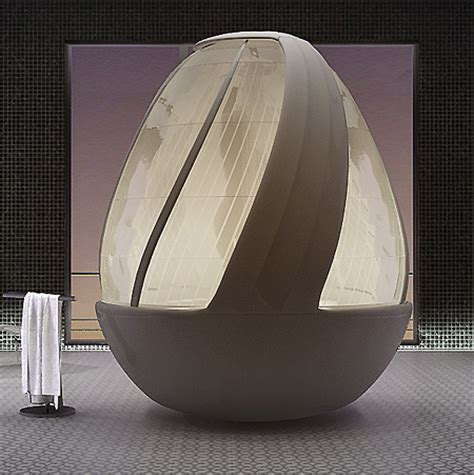 Shower Pod by Amazing Egg Shaped Shower Pod Techeblog