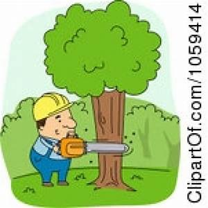 Cut down a tree clipart - Clipground