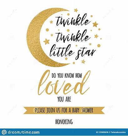 Twinkle Moon Star Template Shower Invitation Boy