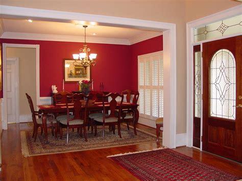 open foyer formal red dining room plan   houseplansandmorecom great entries