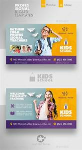 Hoarding Design Templates Kids School Business Card Templates Psd Indesign Indd