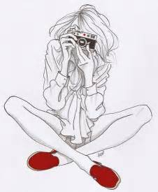 Girl with Camera Drawing Tumblr