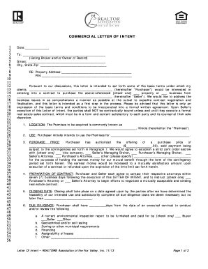 printable letter  intent business purchase forms