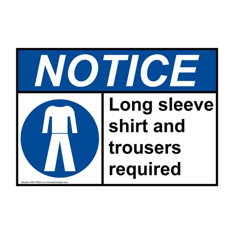 Ansi Notice Long Sleeve Shirt And Trousers Required Sign. Stair Signs. Flat Icons Signs. After Tonsillectomy Signs. Work In Progress Signs. Seasonal Allergy Signs. Sickness Signs Of Stroke. Photobooth Signs Of Stroke. Dictionary Signs Of Stroke