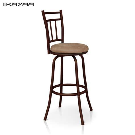ikayaa antique swivel bar chair  backrest metal frame