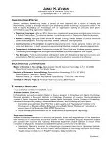 Resumes Templates Resume Sles