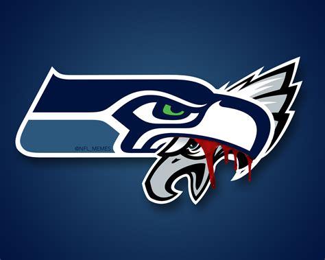 seahawks alter logo  win  eagles daily snark
